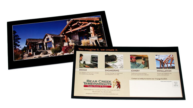 Direct Mail Campaign for Bear Cree Timberwrights