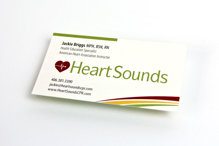 Business Card and Logo Design for Heartsounds CPR