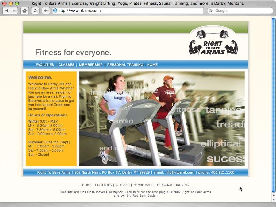 screenshot of rtbamt.com website design