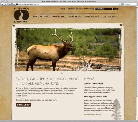 Website Design for Bitterroot Land Trust