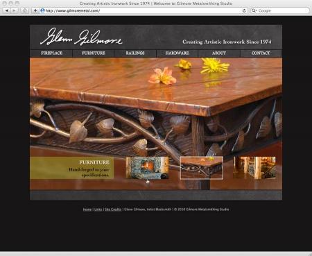 web design and development for Glenn Gilmore