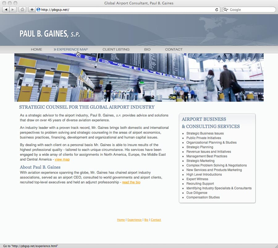 screenshot of pbgsp.net website design
