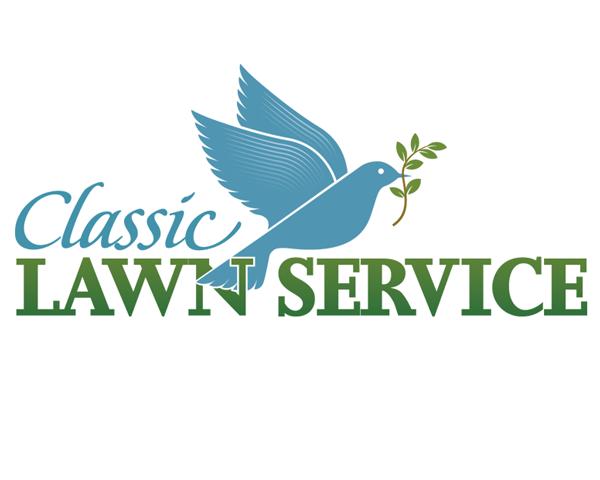 logo designer example classic lawn service