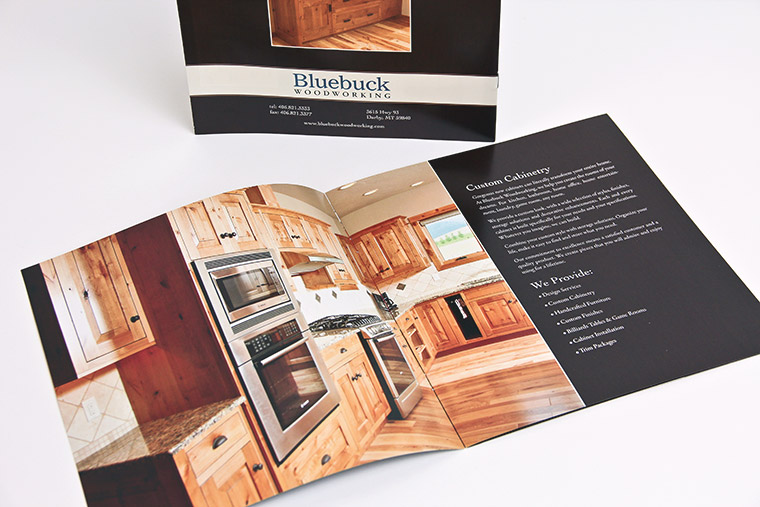 Booklet design and photography for Bluebuck Woodworking