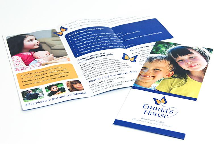 Brochure Design and Printing for Emma's House of Hamilton, Montana