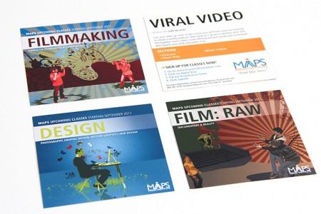 Recruitment Card design for MAPS Media Institute