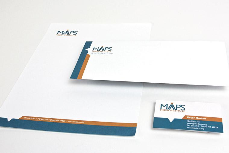 Letterhead, Envelope, Business Card design for MAPS