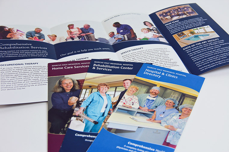 Brochure designs for Marcus Daly Memorial Hospital