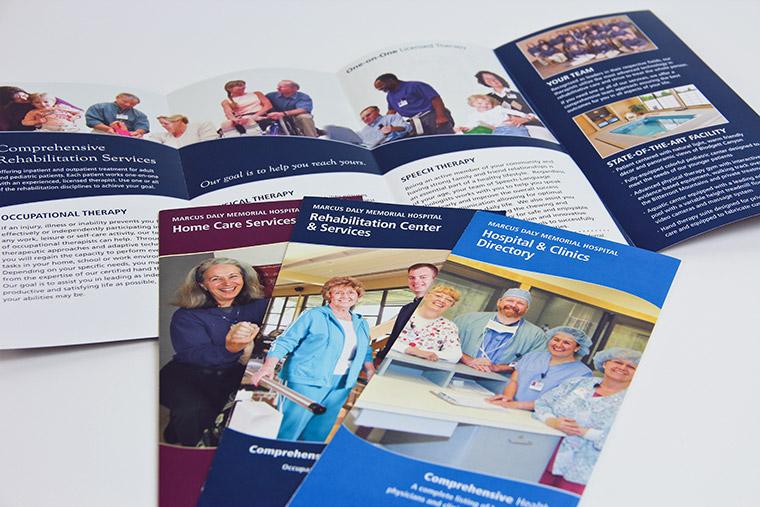 Brochure designs for Marcus Daly Memorial Hospital