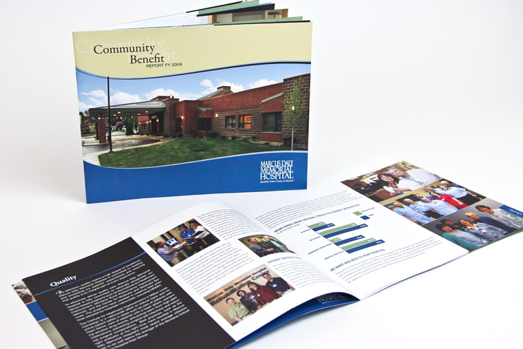 Booklet Design for Marcus Daly Memorial Hospital, Hamilton, Montana