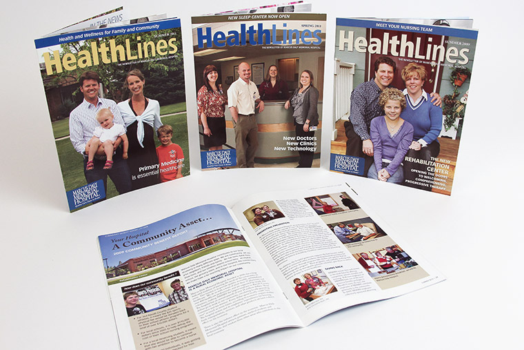 magazine design for marcus daly memorial hospital