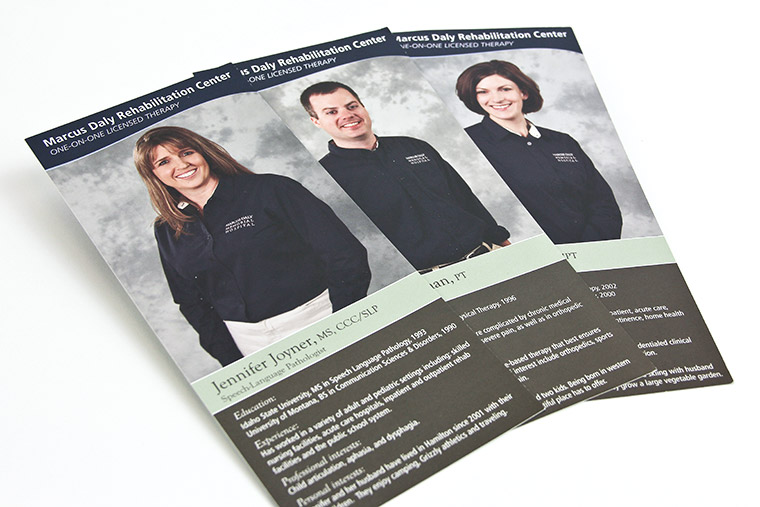 Rack Card Family for Rehabilitation Therapists