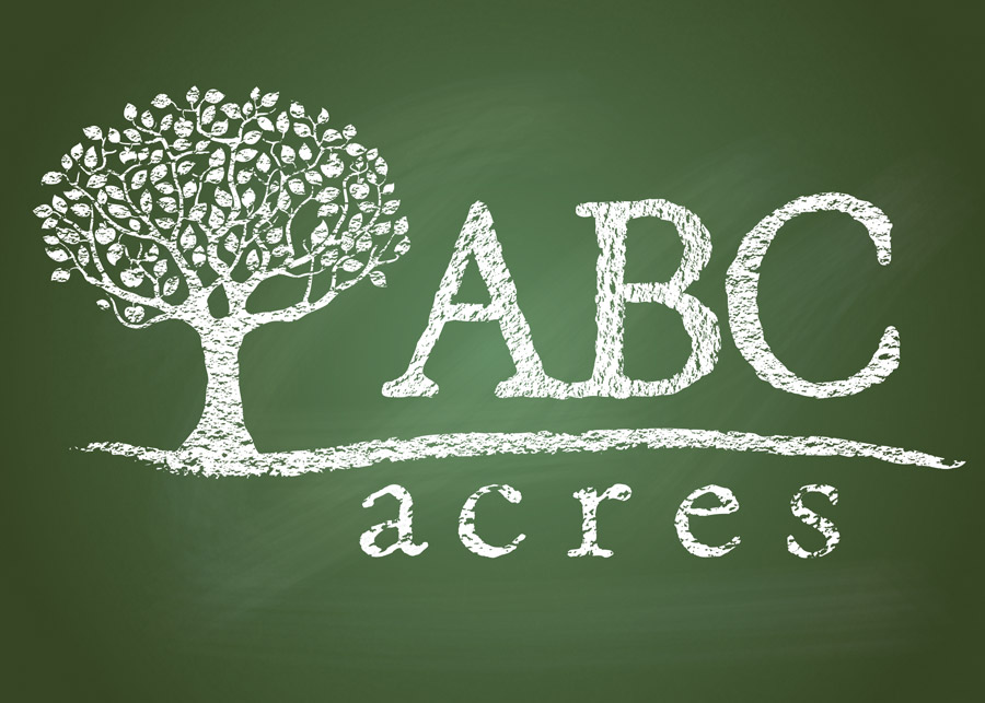 logo design for abc acres, a permaculture farm