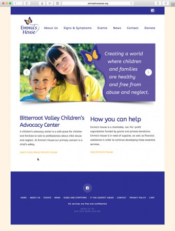 image of website design for emma's house